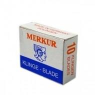 MERKUR - Lame triangolari per rasoio di sicurezza baffi e basette - confezione da 10 lamette