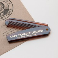 Capt. Fawcett's Folding Pocket  Beard Comb