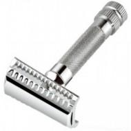 Merkur - Rasoio di Sicurezza Angolato Liscio manico corto