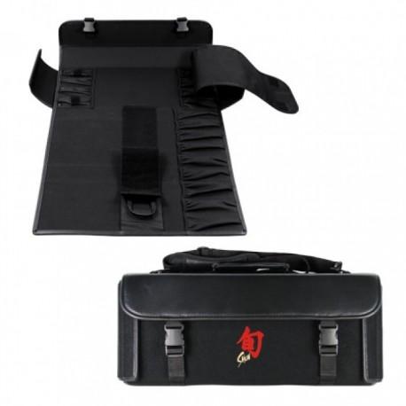 KAI SHUN - Borsa Porta Coltelli vuota  per 17 pezzi e tasche accessorie 50 x 23 x 9 cm